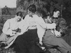 Martha Berry Reading with Friends Late 1890s
